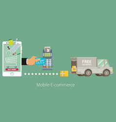 Flat design concept e-commerce vector
