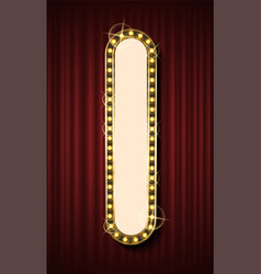 glowing frame empty board with light-bulbs vector image