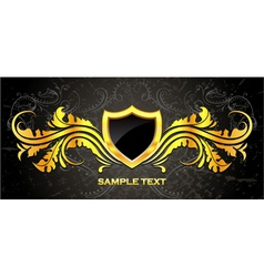 Gold vintage emblem vector