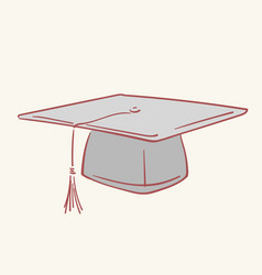 graduation academic caphand drawn style vector image