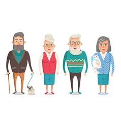 grandparents people collection vector image
