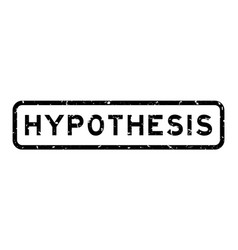 Grunge black hypothesis word square rubber seal vector