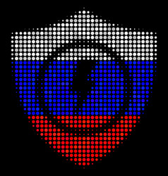 Halftone russian electric guard icon vector