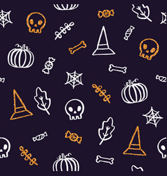 halloween background with glitter elements vector image