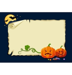 Halloween card no gradients vector image