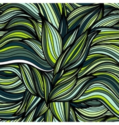 Hand drawn leaves pattern Scetch of background vector image