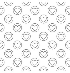 heart in circle linear geometric seamless vector image