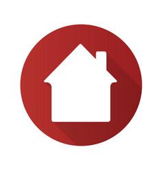 House flat design long shadow glyph icon vector