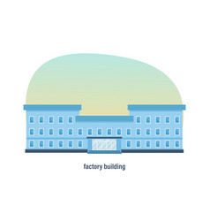 industrial industrial three-story factory building vector image