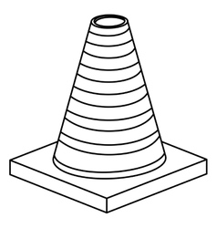 Isolated and silhouette cone design vector