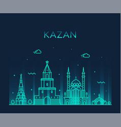 kazan skyline republic tatarstan russia big vector image