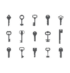 key silhouettes antique and modern graphic vector image