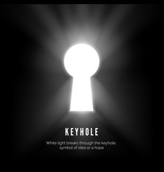 Keyhole white light breaks through vector