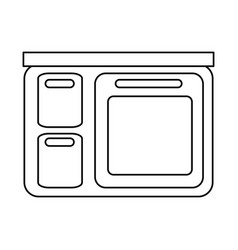 Kitchen home appliances desig vector