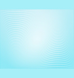 light blue wavy halftone background vector image