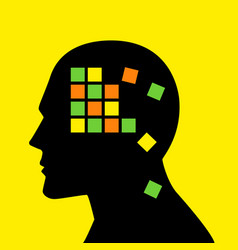 mind concept graphic for memory loss or vector image