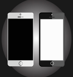 mobile devices black and white vector image