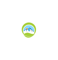 mountain and plants logo icon vector image