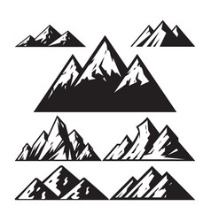 Mountain sign - icons set vector
