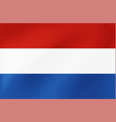 national flag netherlands vector image