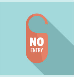 no entry paper door hanger icon flat style vector image