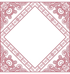 ornamental red frame vector image