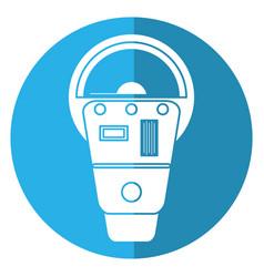 Parking meter payment machine shadow vector