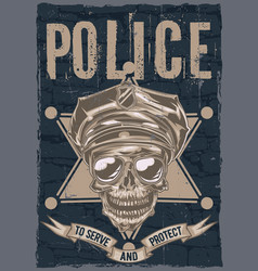 poster label design vector image