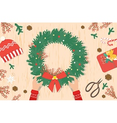 Preparing for Christmas card and Christmas decorat vector