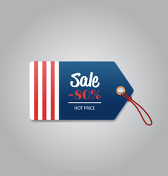 Price label tag happy presidents day holiday big vector