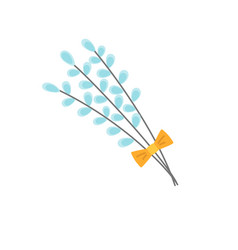 pussy willow icon vector image