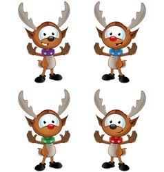 Reindeer Character Gesturing To Halt vector image