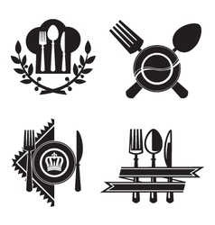 Restaurant icons vector