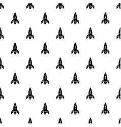 rocket galaxy pattern seamless vector image