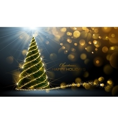 Shining Christmas tree vector