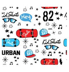 Skateboards pattern vector