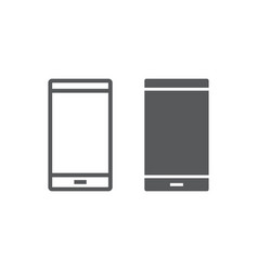 smartphone line and glyph icon electronic vector image