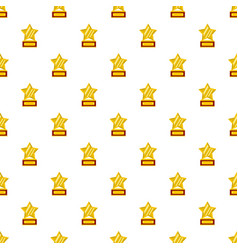 Star award pattern seamless vector