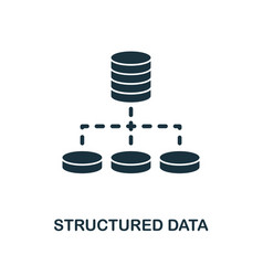 structured data icon monochrome style design from vector image