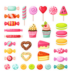 sweet candy lollipop colored delicious tasty vector image