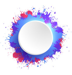 Template round frame with colorful watercolor vector