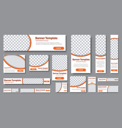 Templates web banners in standard sizes vector