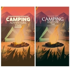 Time to travel Camp banner vector image