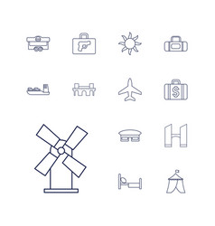 Travel icons vector