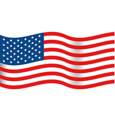 united state flag vector image