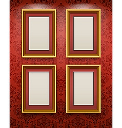 wooden frames on the wal vector image vector image