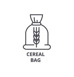 ceral bag line icon outline sign linear symbol vector image vector image