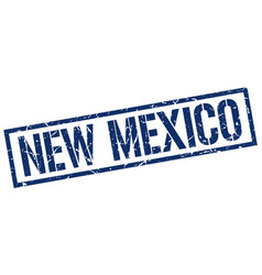 New mexico blue square stamp vector