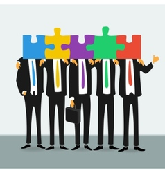 Team of successful business people vector image vector image