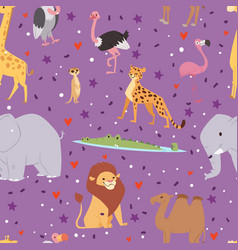 Africa animals outdoor graphic travel seamless vector